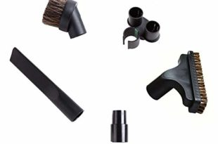 Bissell Vacuum Attachments - EZ SPARES Relpacement Vacuum Cleaner Brush(5 PCS),Fit Universal 32mm 35mm Attachment,Horsehair Small Round Brush Kit,Fit Hoover Eureka Dirt Devil Kirby Rainbow Kenmore Electrolux,Vacuum Accessories