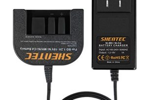 Black & Decker Vacuum Charger - Shentec 1.2V-18V Battery Charger Compatible with Black & Decker 7.2V 9.6V 12V 14.4V 18V Ni-MH/Ni-Cd Slide Style Batteries(Not for Li-ion Batteries)