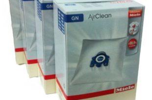 Miele Vacuum Cleaner Bags - Type G/N Airclean Filterbags, 4 Boxes